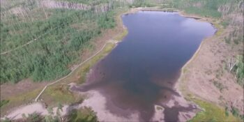 Freeman Reservoir Craig CO Aerial View