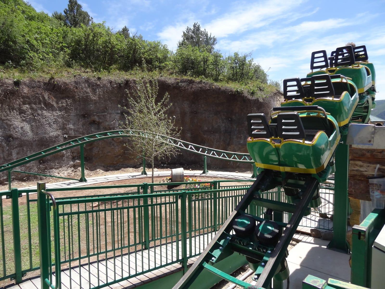 Glenwood Caverns Adventure Park Roller Coaster Ride