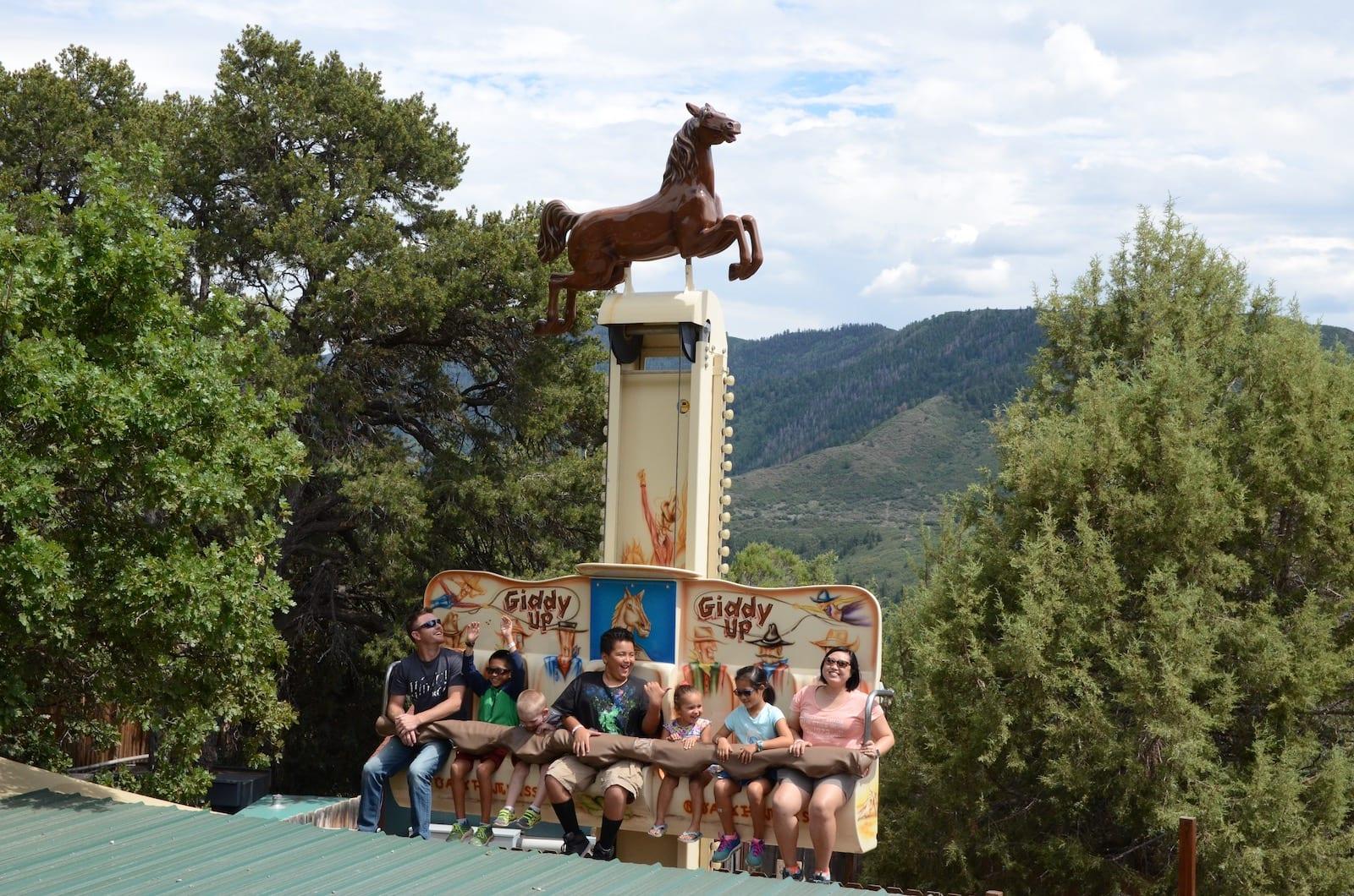 Glenwood Caverns Adventure Park Giddy Up Ride