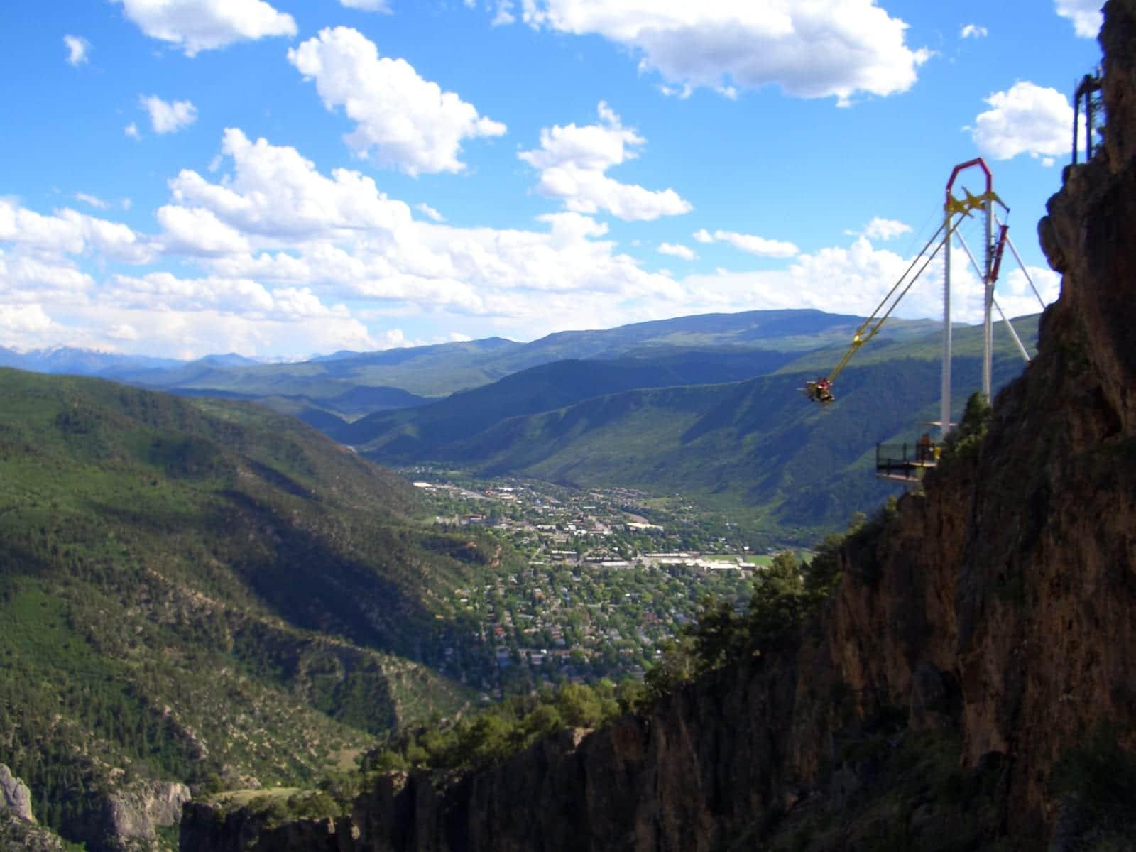 Glenwood Caverns Adventure Park Giant Canyon Swing