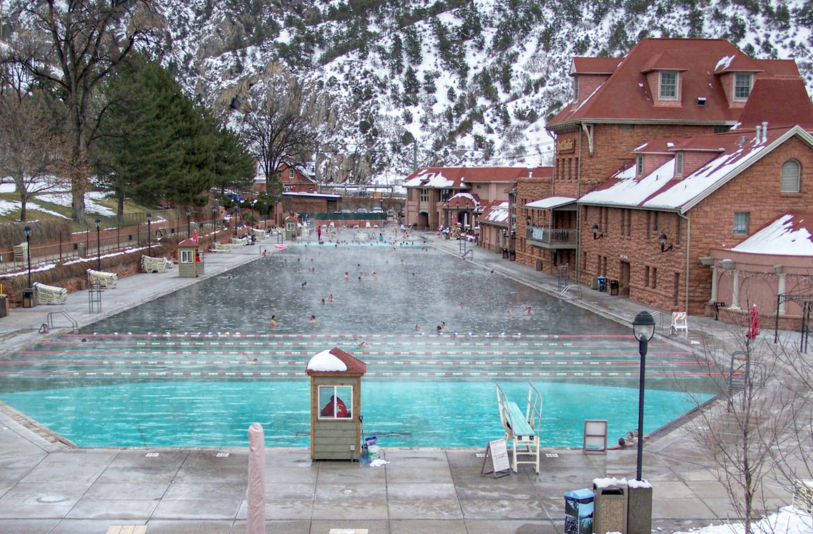 Glenwood Hot Springs Pool Winter Colorado