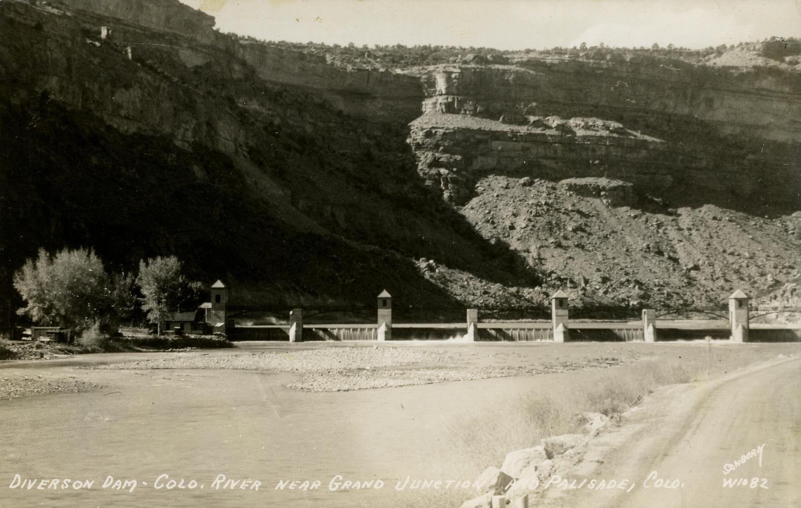 Grand Valley Diversion Dam on Colorado River Circa 1940