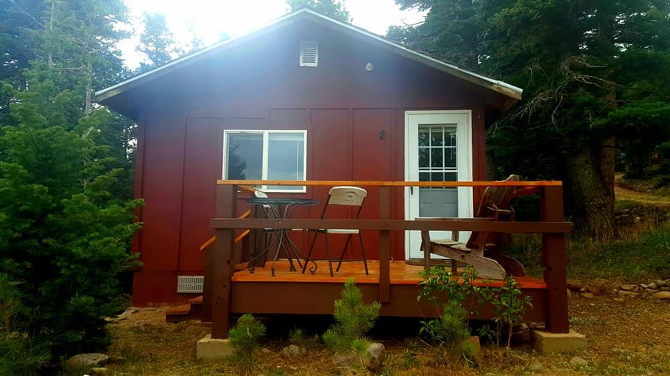 image of a cabin a alpine lodge