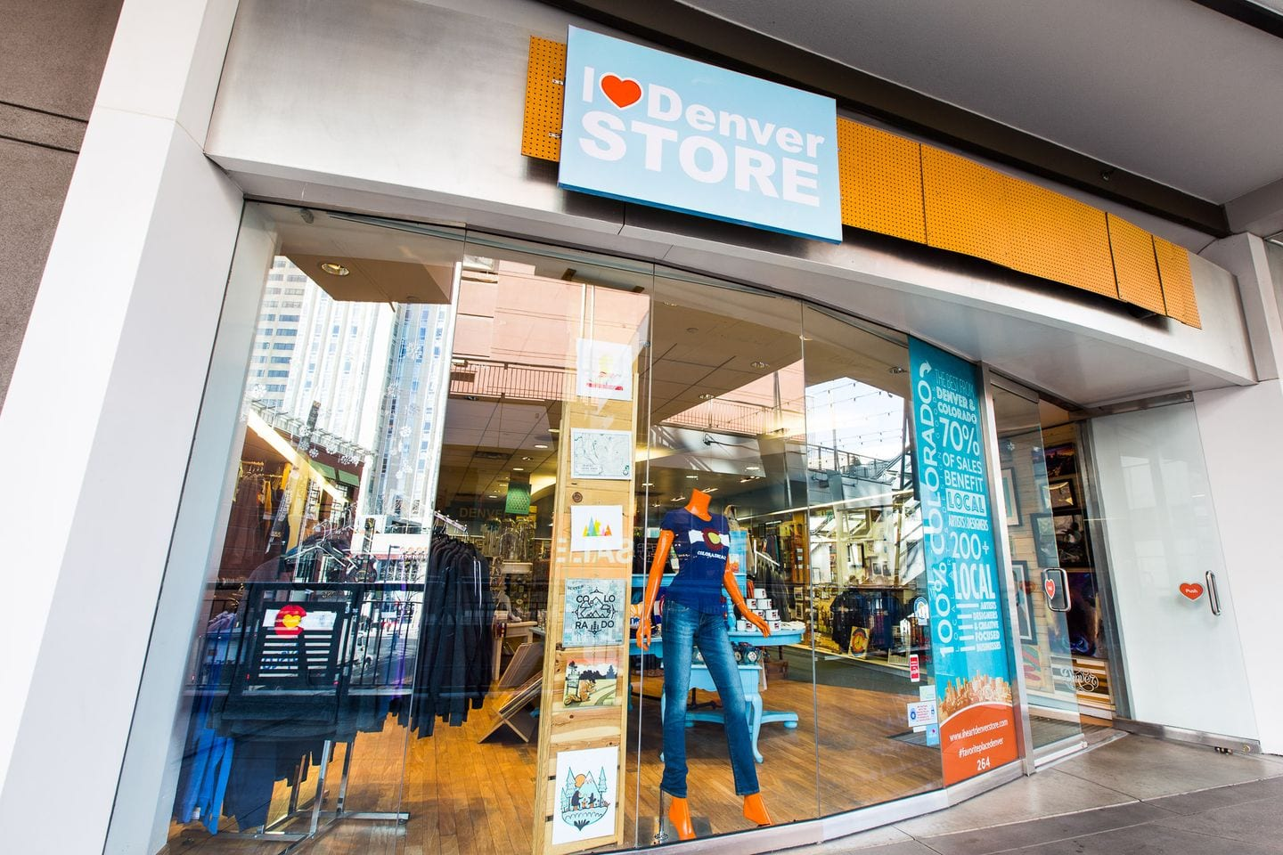 image of the i heart denver store