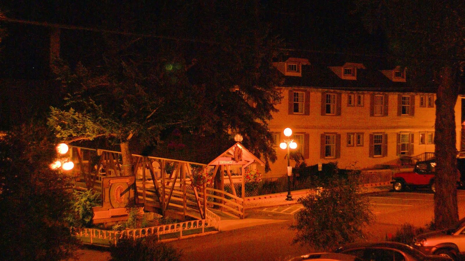 Indian Hot Springs Resort Idaho Springs CO Night Exterior