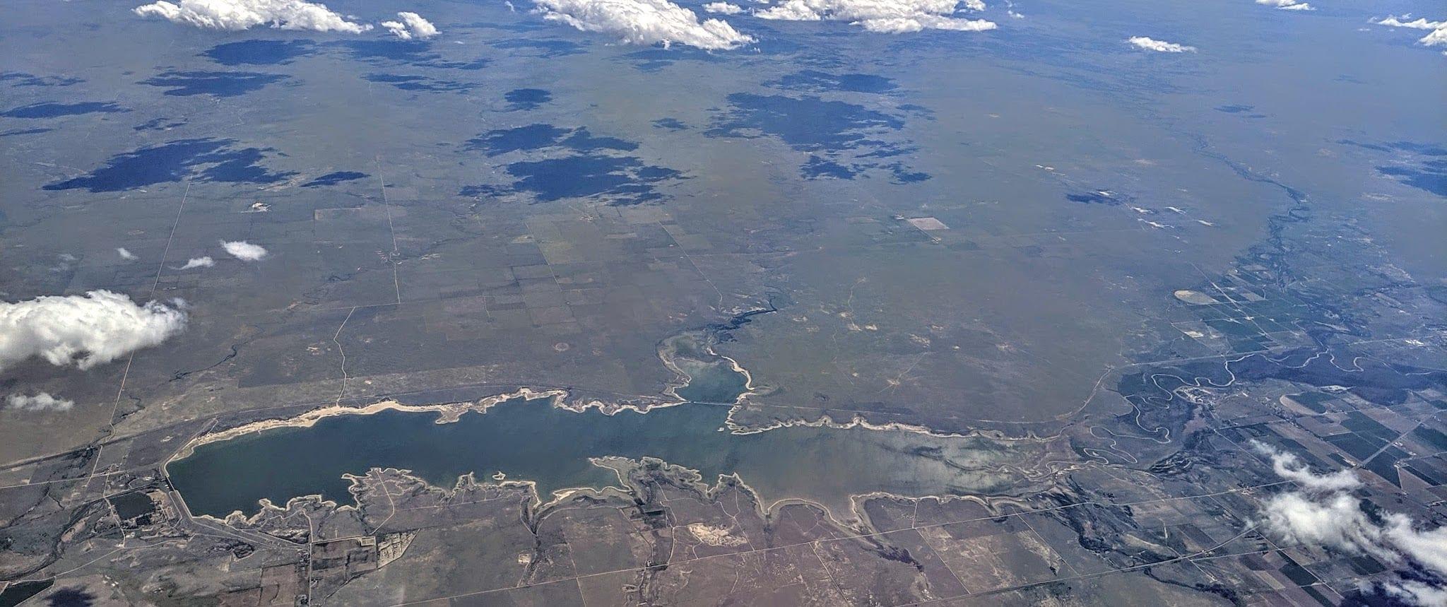 John Martin Reservoir Colorado Aerial View