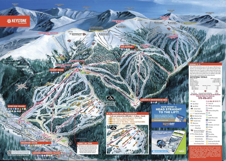 Keystone Ski Resort Trail Map