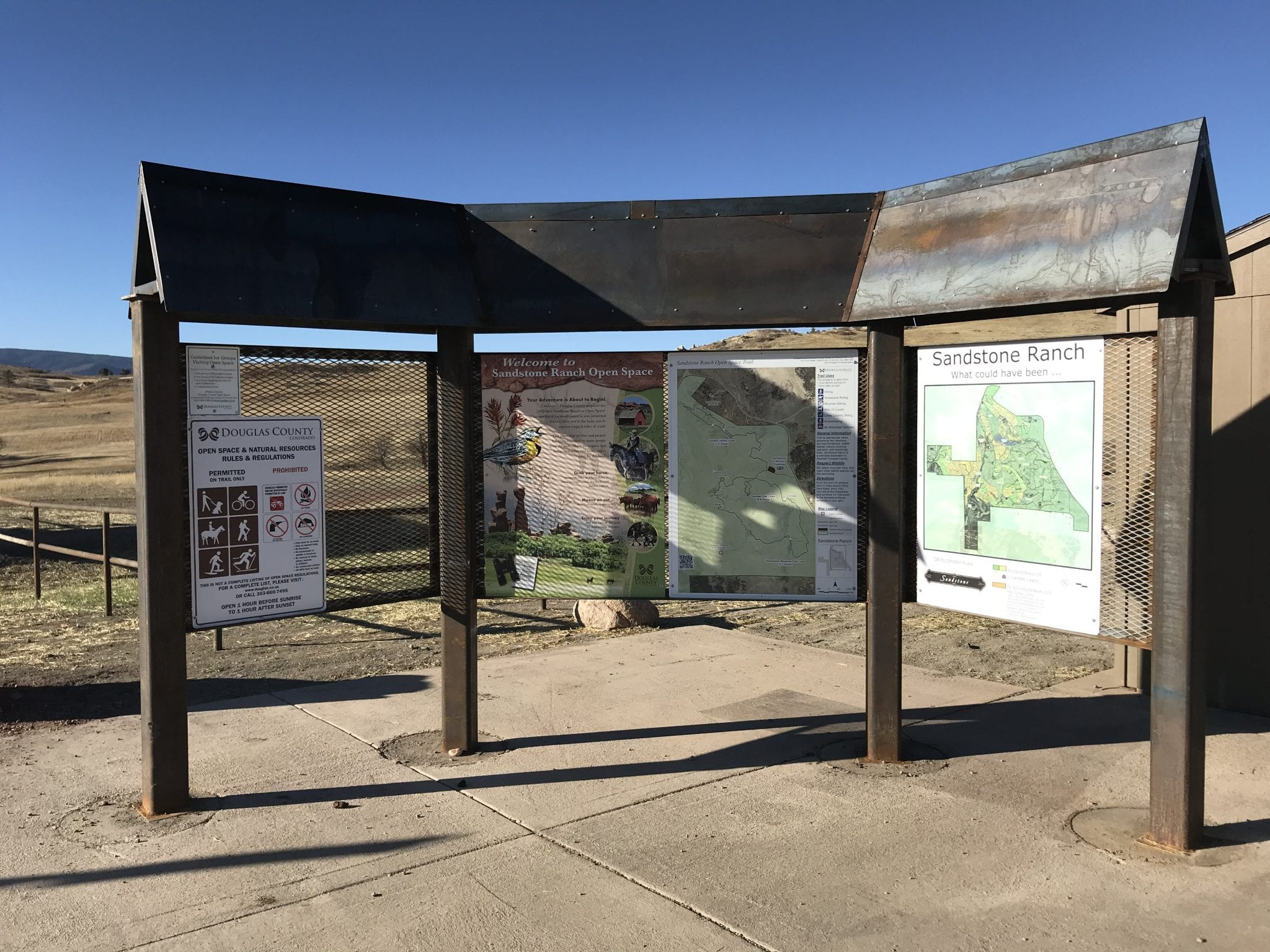 image of information kiosk at sandstone ranch