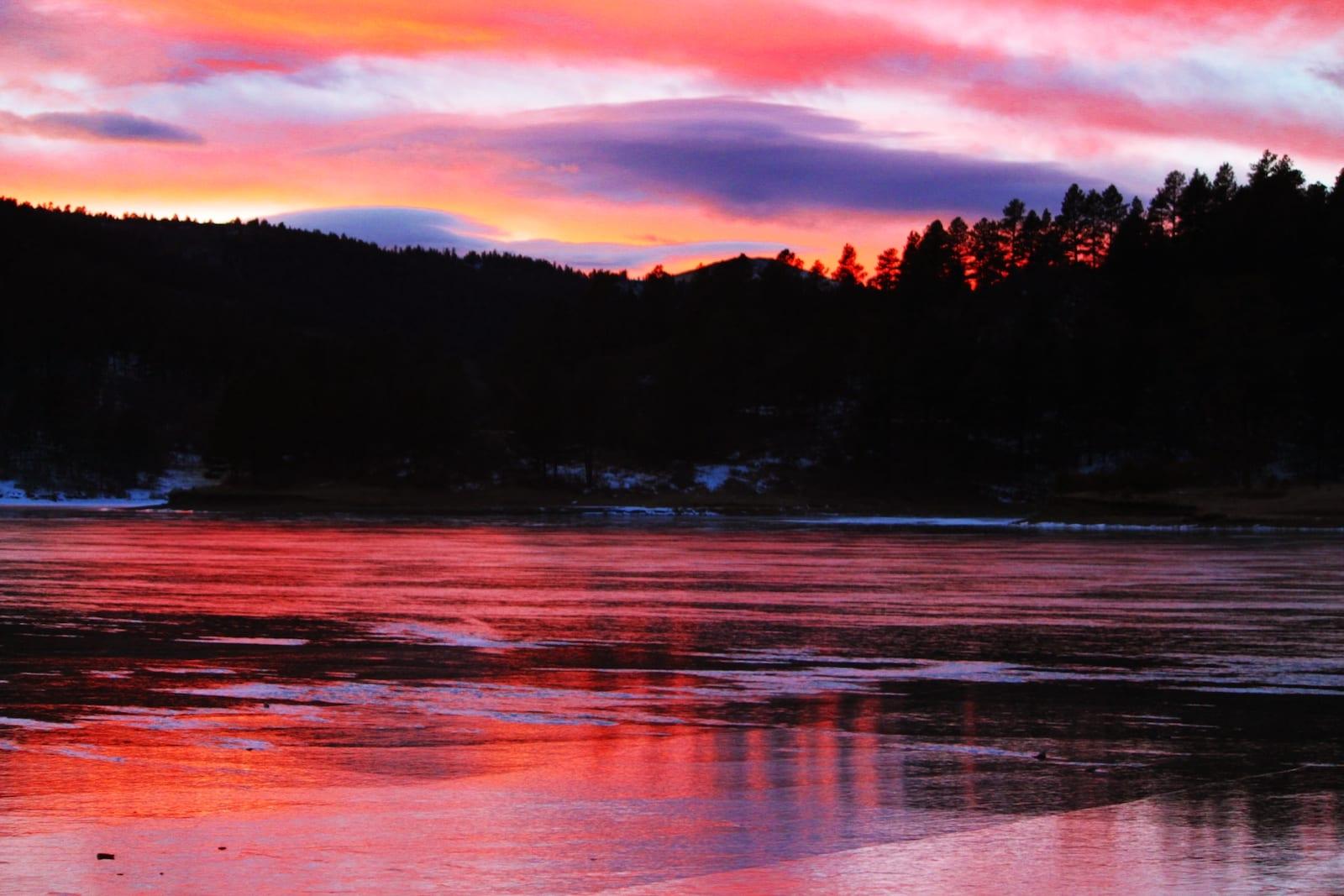 Lake Maloya New Mexico Sunset