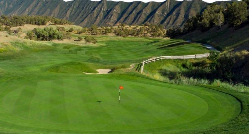 Lakota Golf Club New Castle CO Green