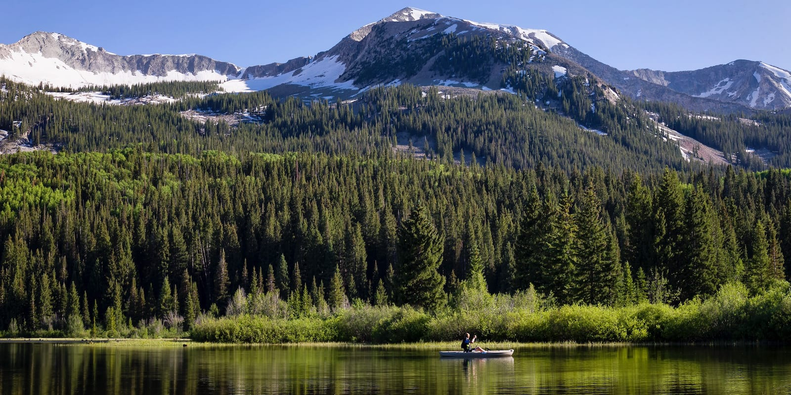 Fishing Boat on Lost Lake Slough Crested Butte CO