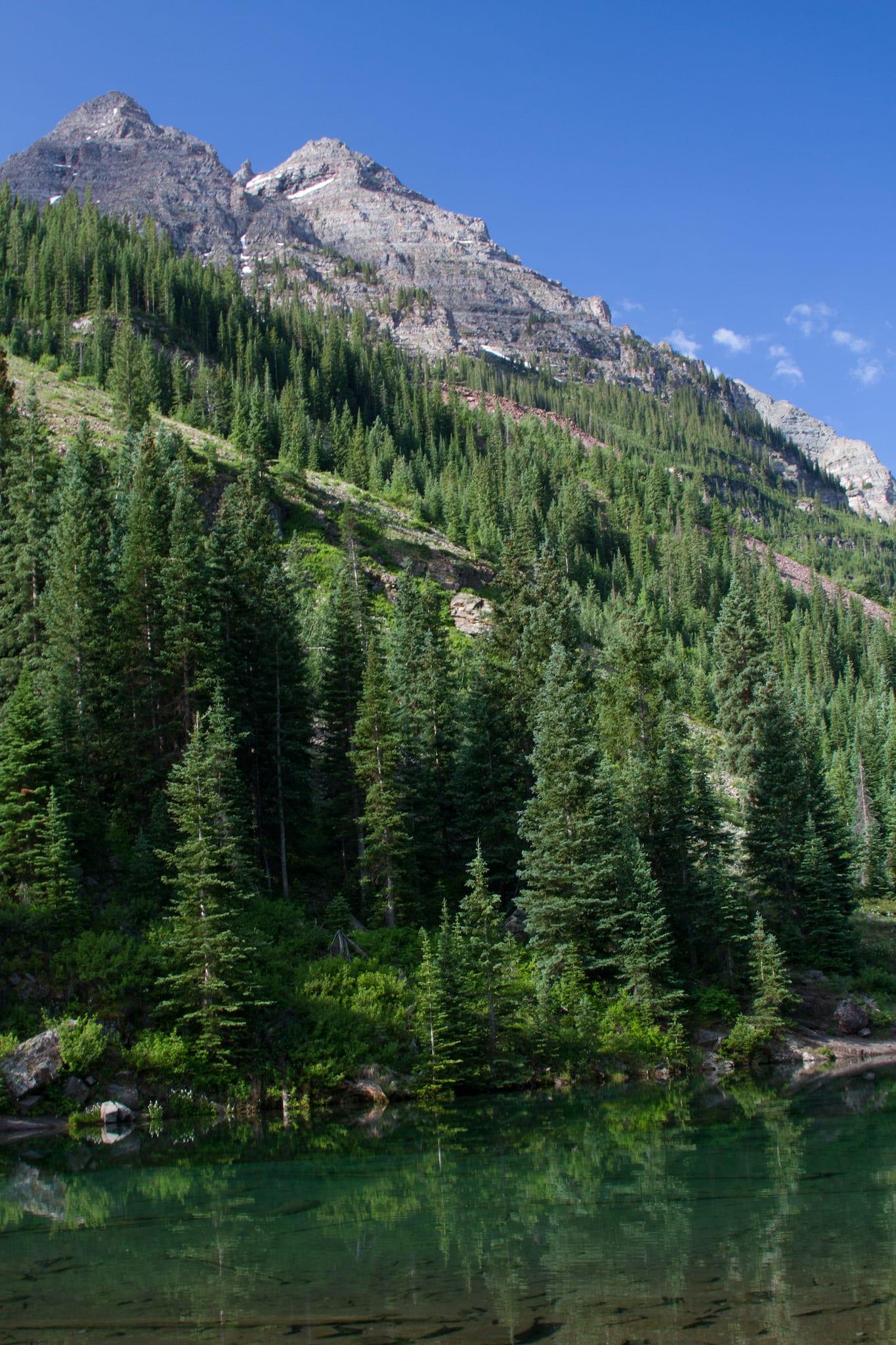 Maroon Lake Evergreen Trees Aspen CO