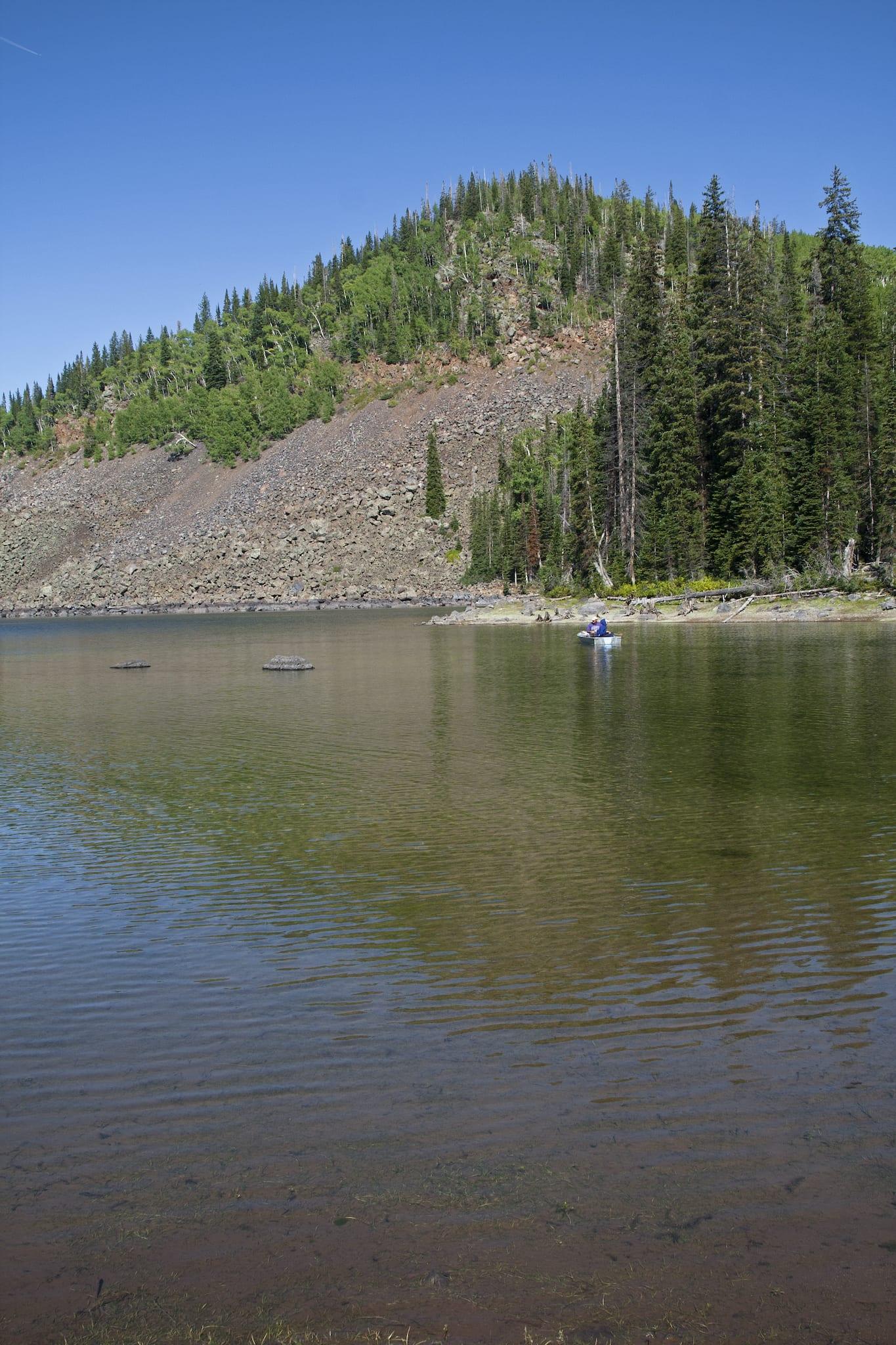 Mesa Lakes Fishing Boat Grand Mesa National Forest Colorado