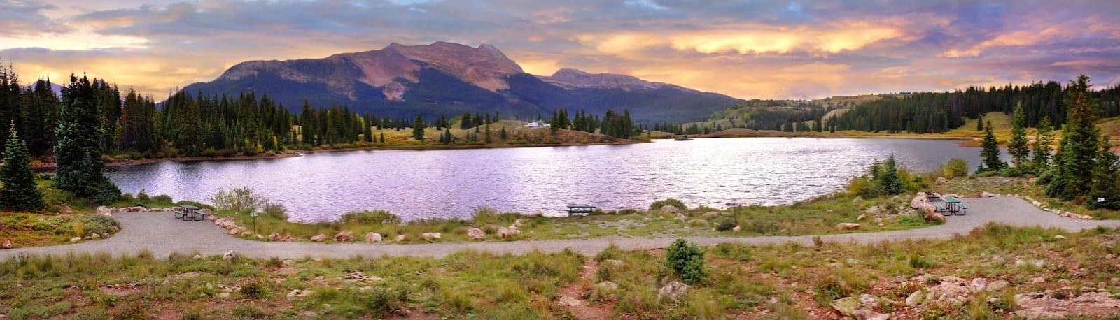 Molas Lake Silverton Colorado Sunset Panorama