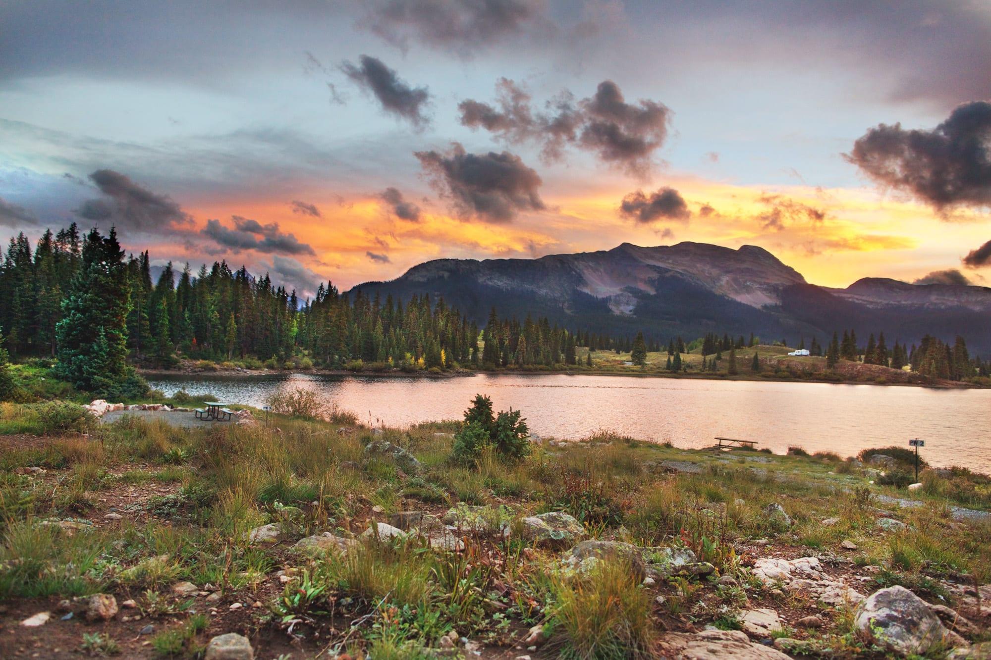 Molas Lake Silverton Colorado Sunset