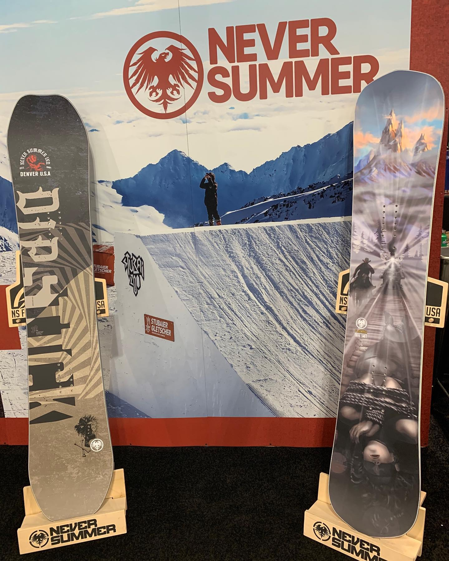 image of never summer snowboards