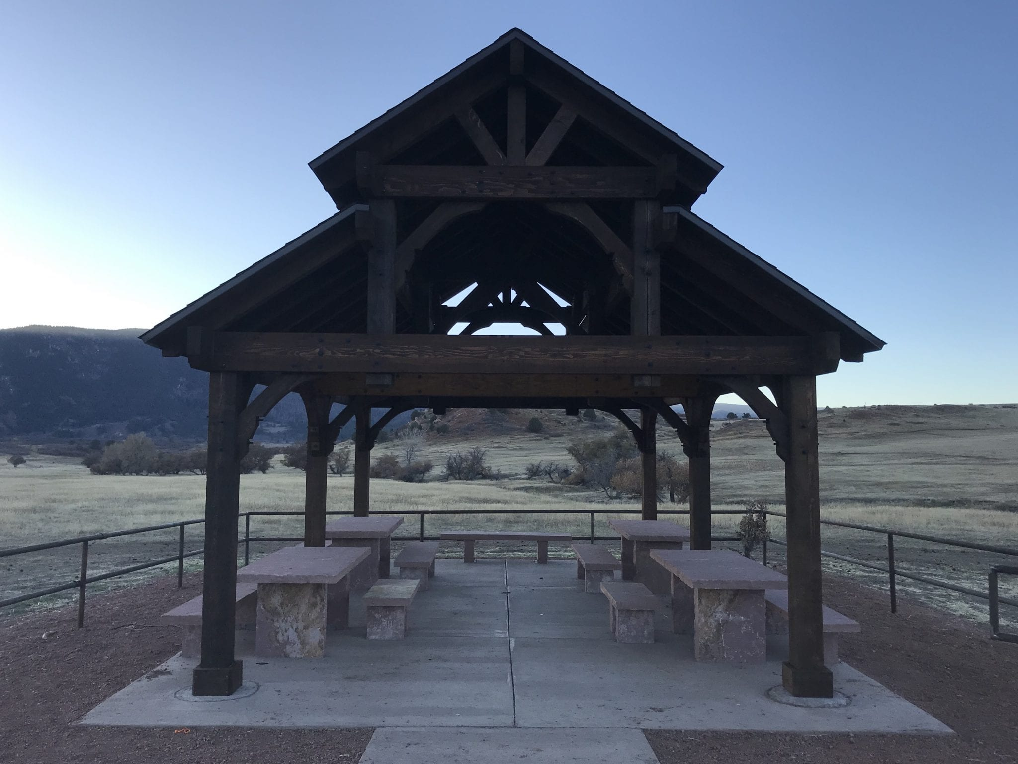 image of pavilion at sandstone ranch