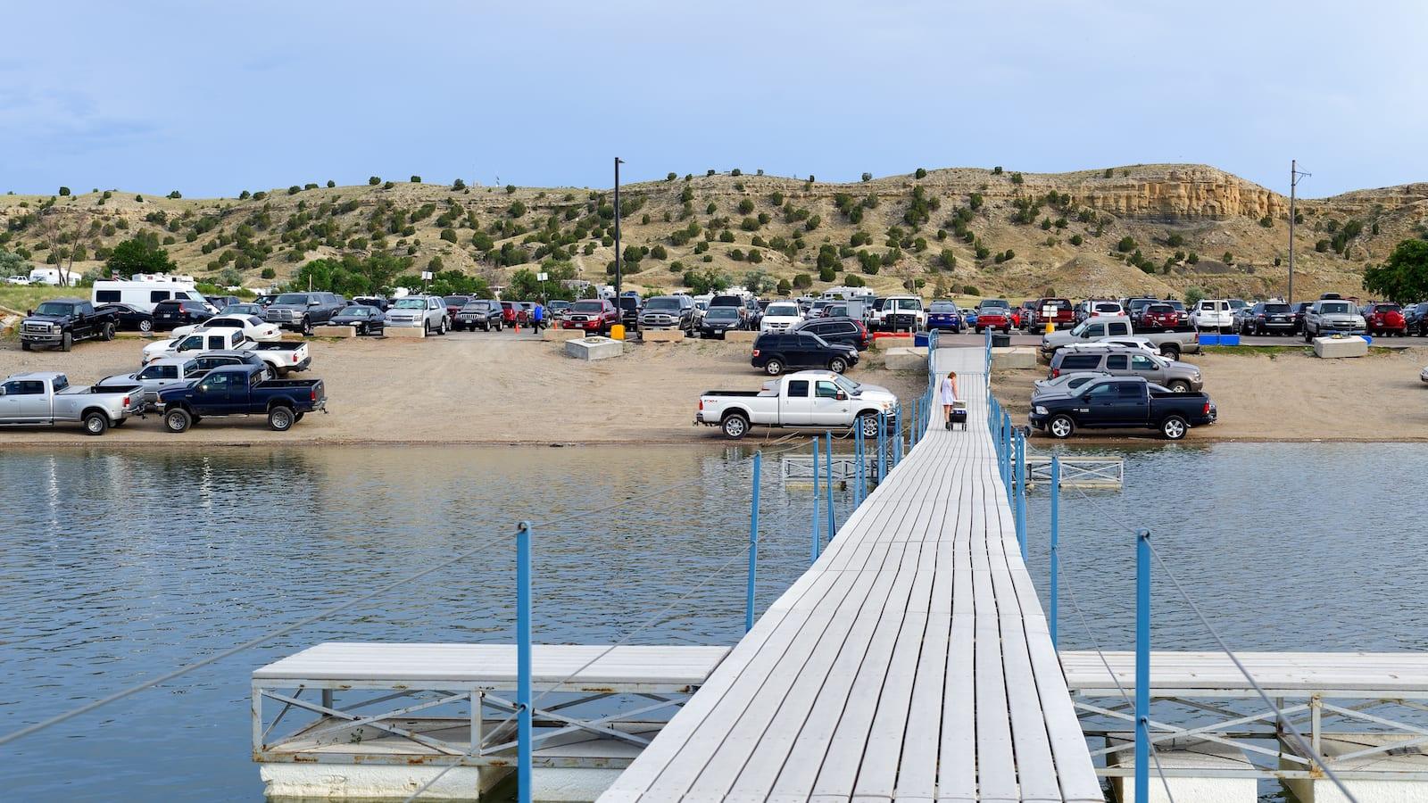 Pueblo Reservoir Dock and Parking Lot Colorado