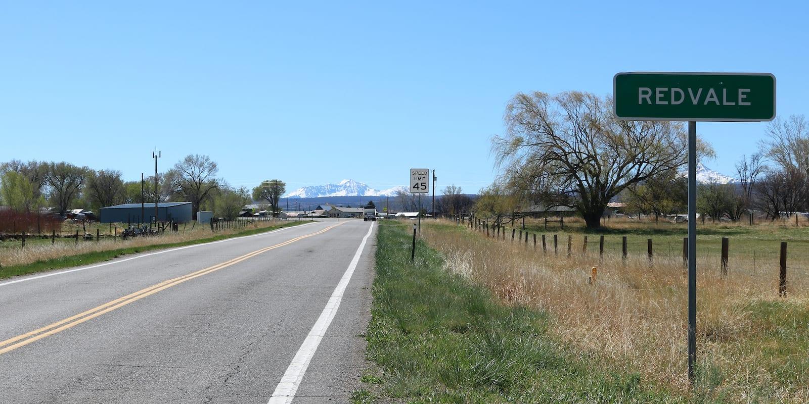 Redvale Colorado Highway 145 Sign