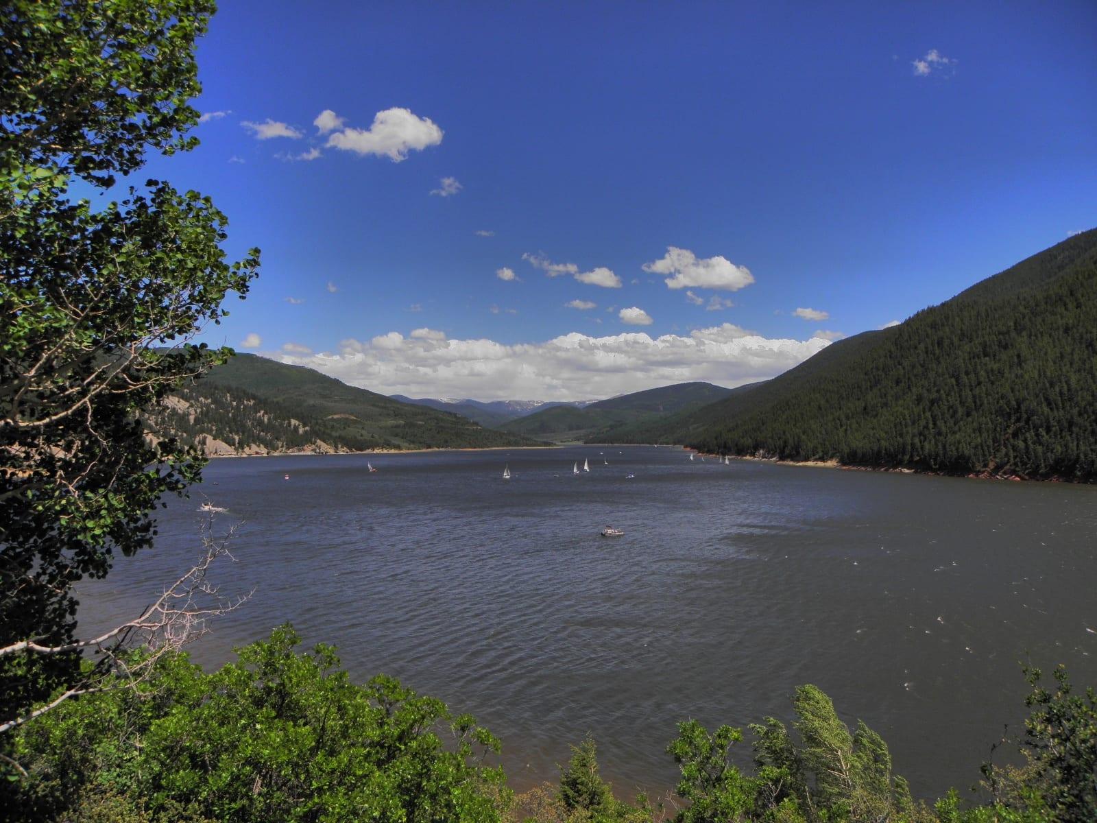 Ruedi Reservoir Sailboats Basalt CO