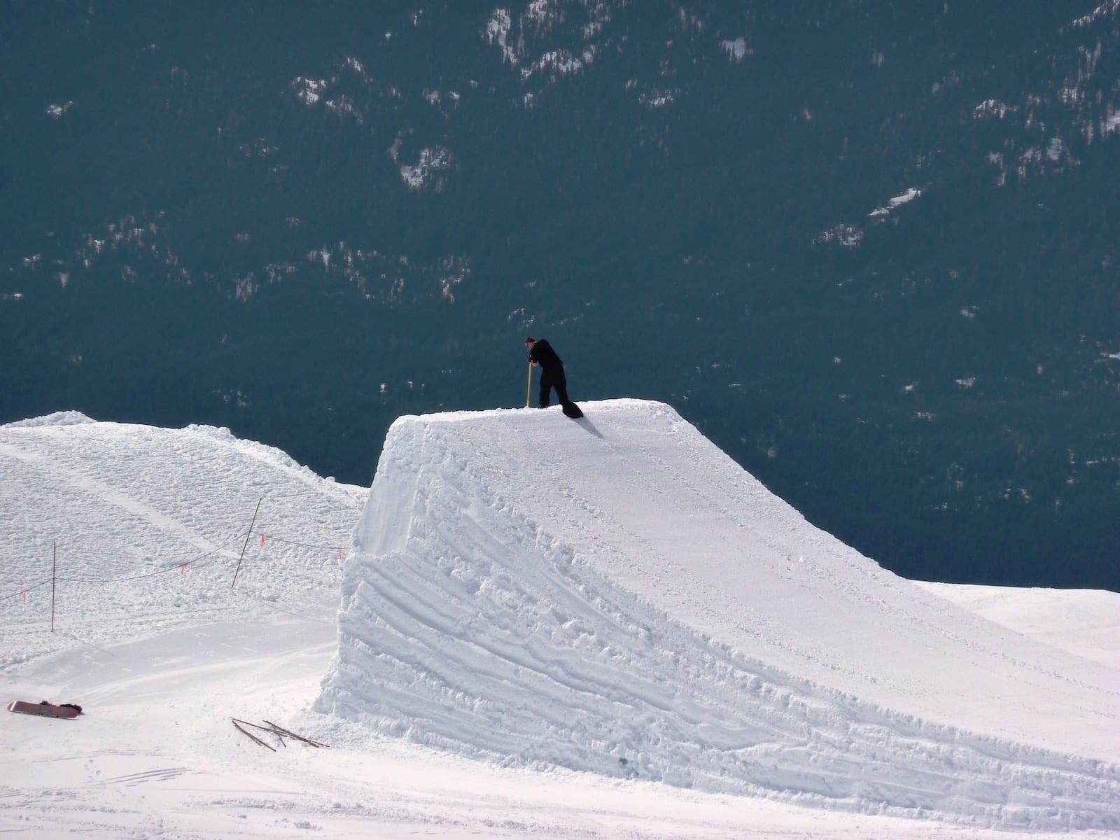Ski Lingo Kicker Jump in Whistler