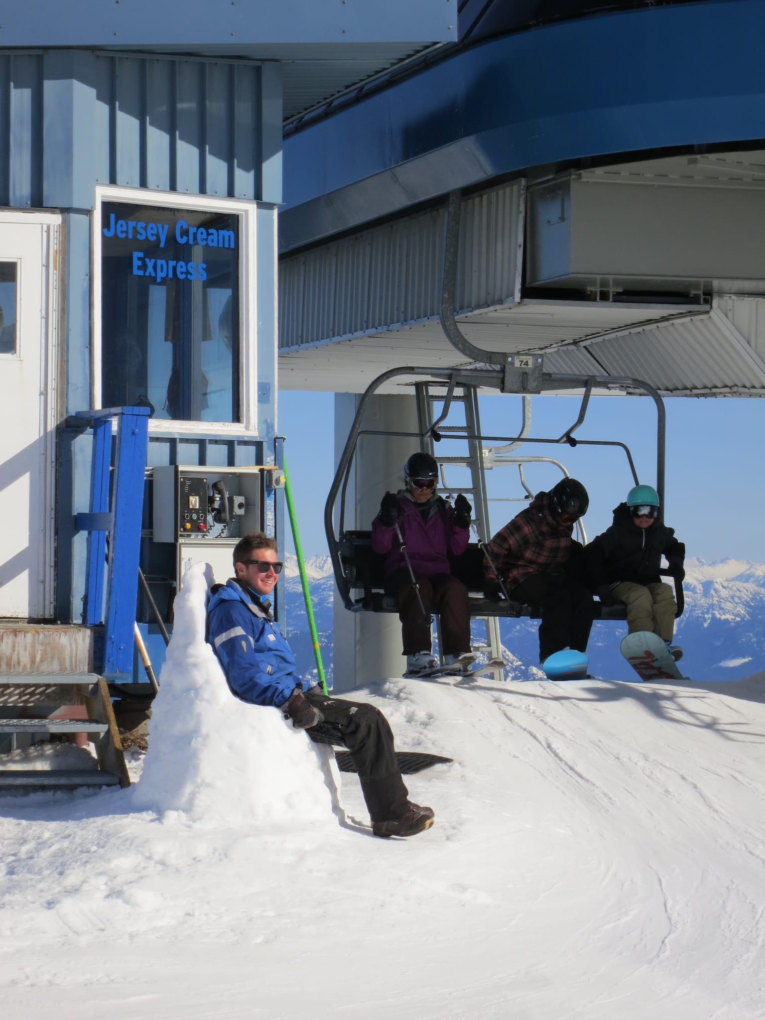 Ski Lingo Liftie's Throne in Whistler BC