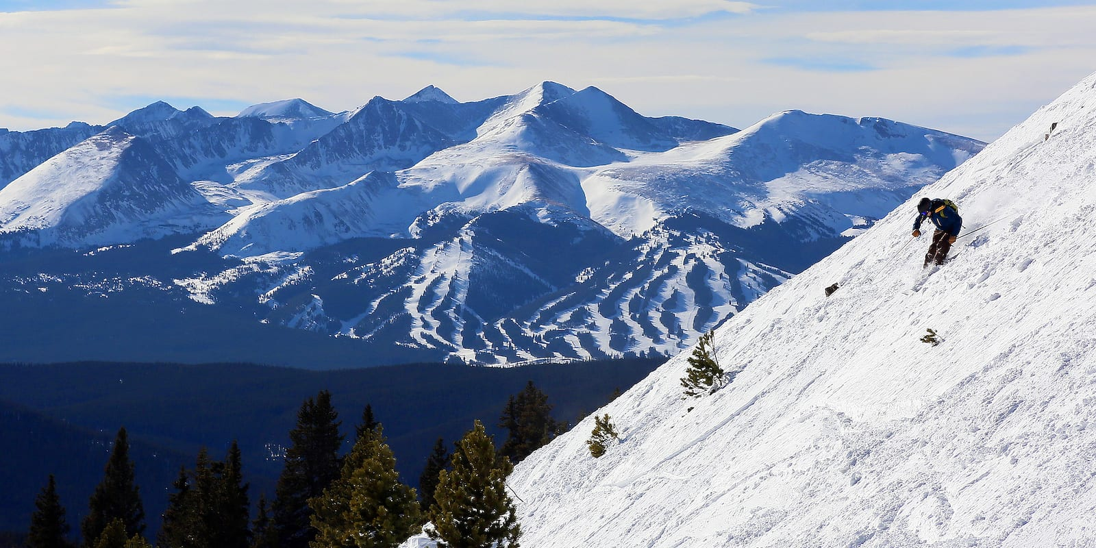 Ski Resorts in Summit County Skiing Keystone with View of Breckenridge