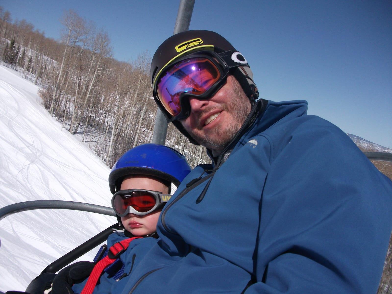 Ski Slang Gaper Gap on Chairlift