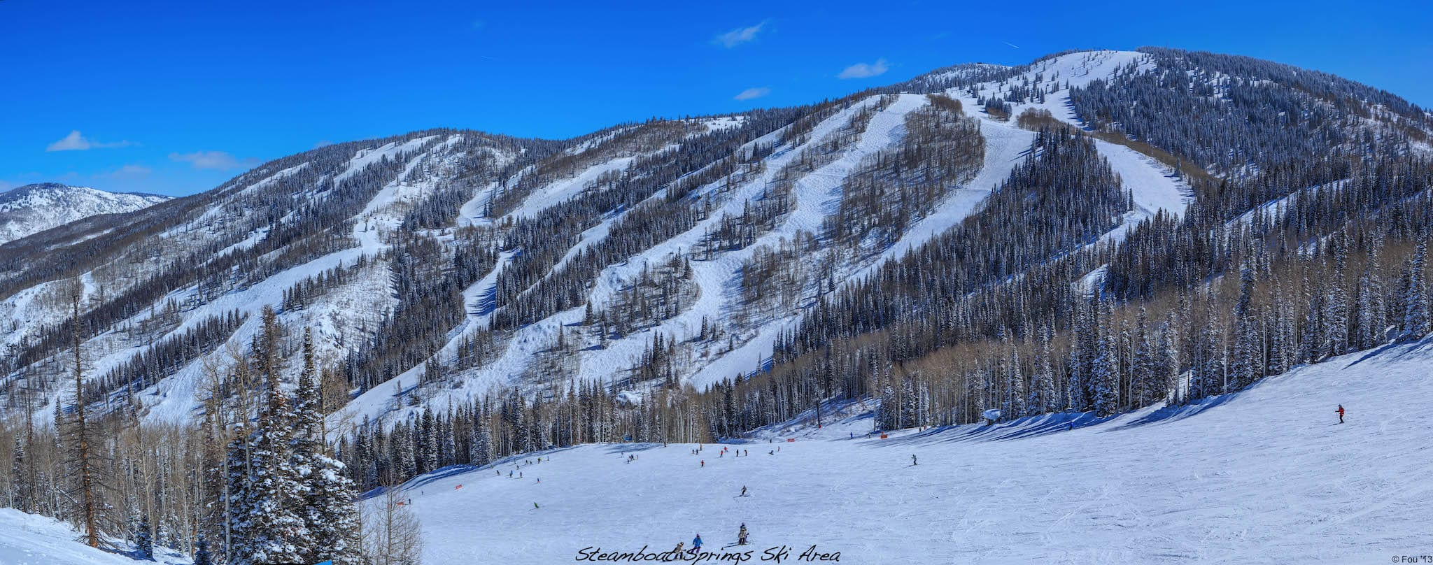 Steamboat Ski Resort Storm Peak Panorama