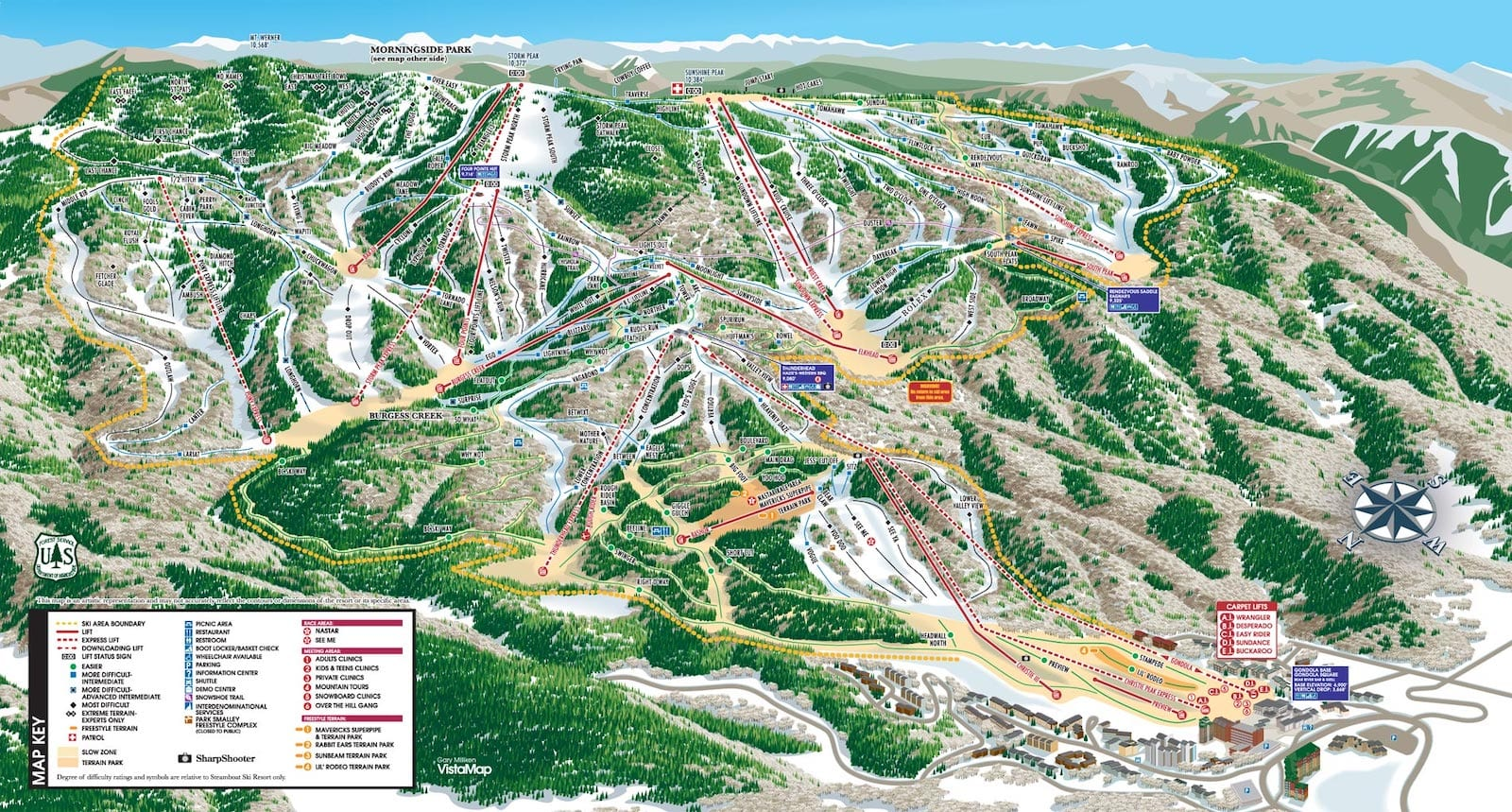 Steamboat Ski Resort Trail Map
