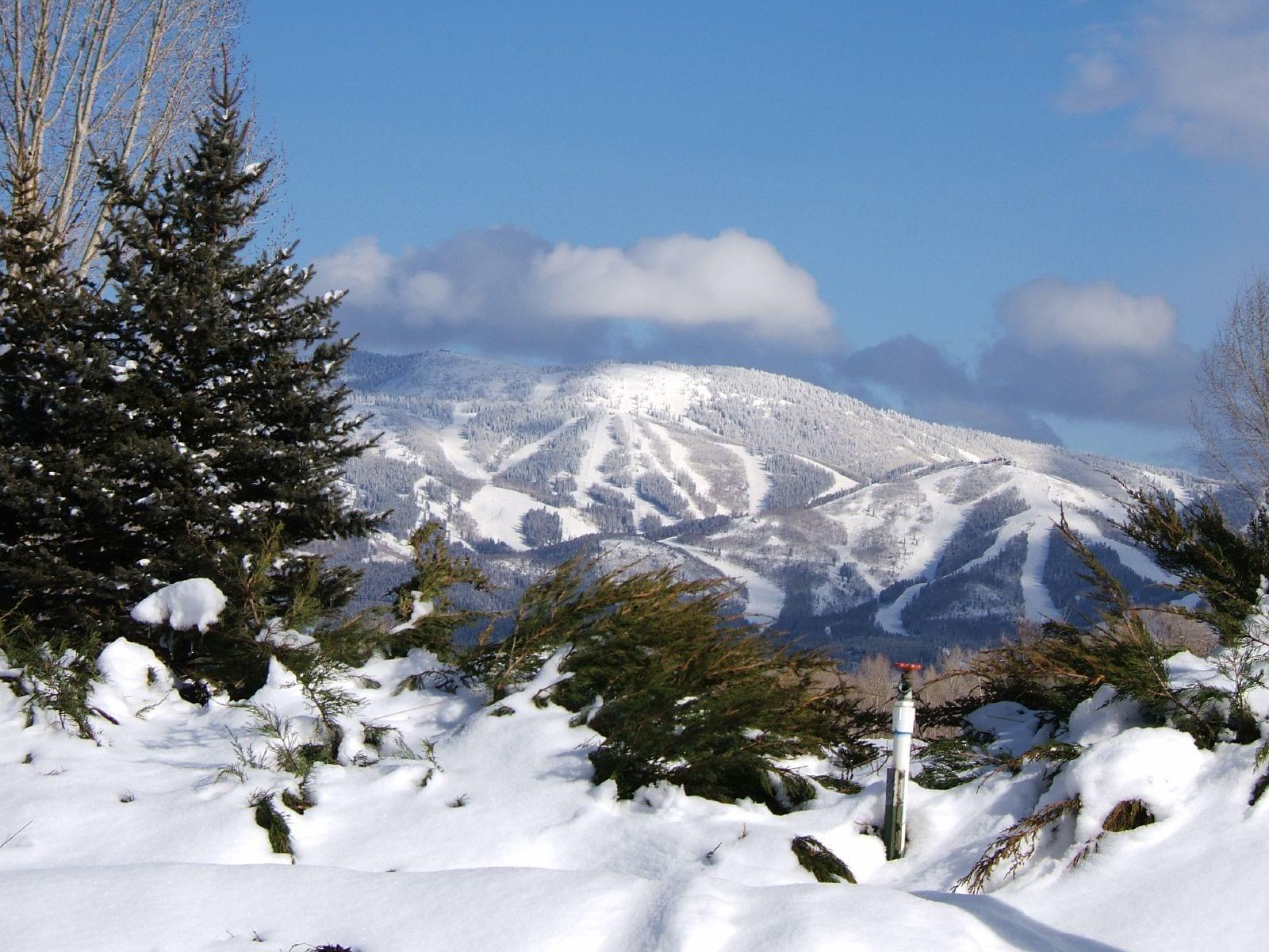 Steamboat Ski Resort Winter View