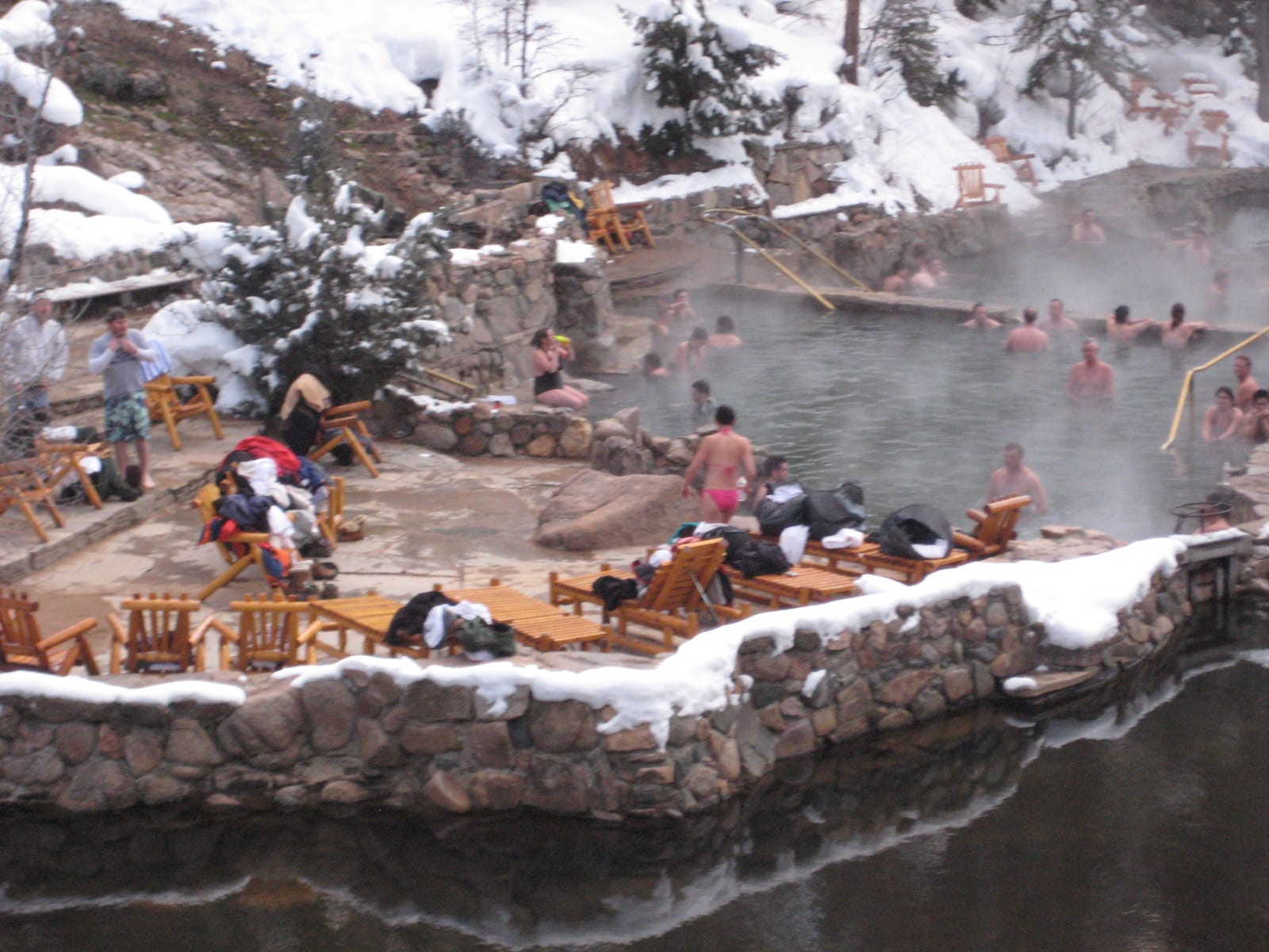 Strawberry Park Hot Springs Wintertime Steamboat Springs