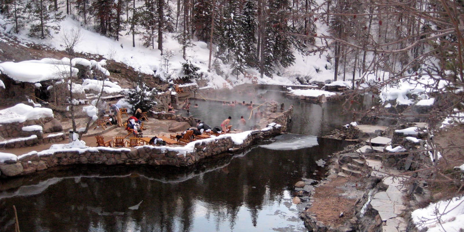 Strawberry Park Hot Springs Winter Steamboat Springs CO