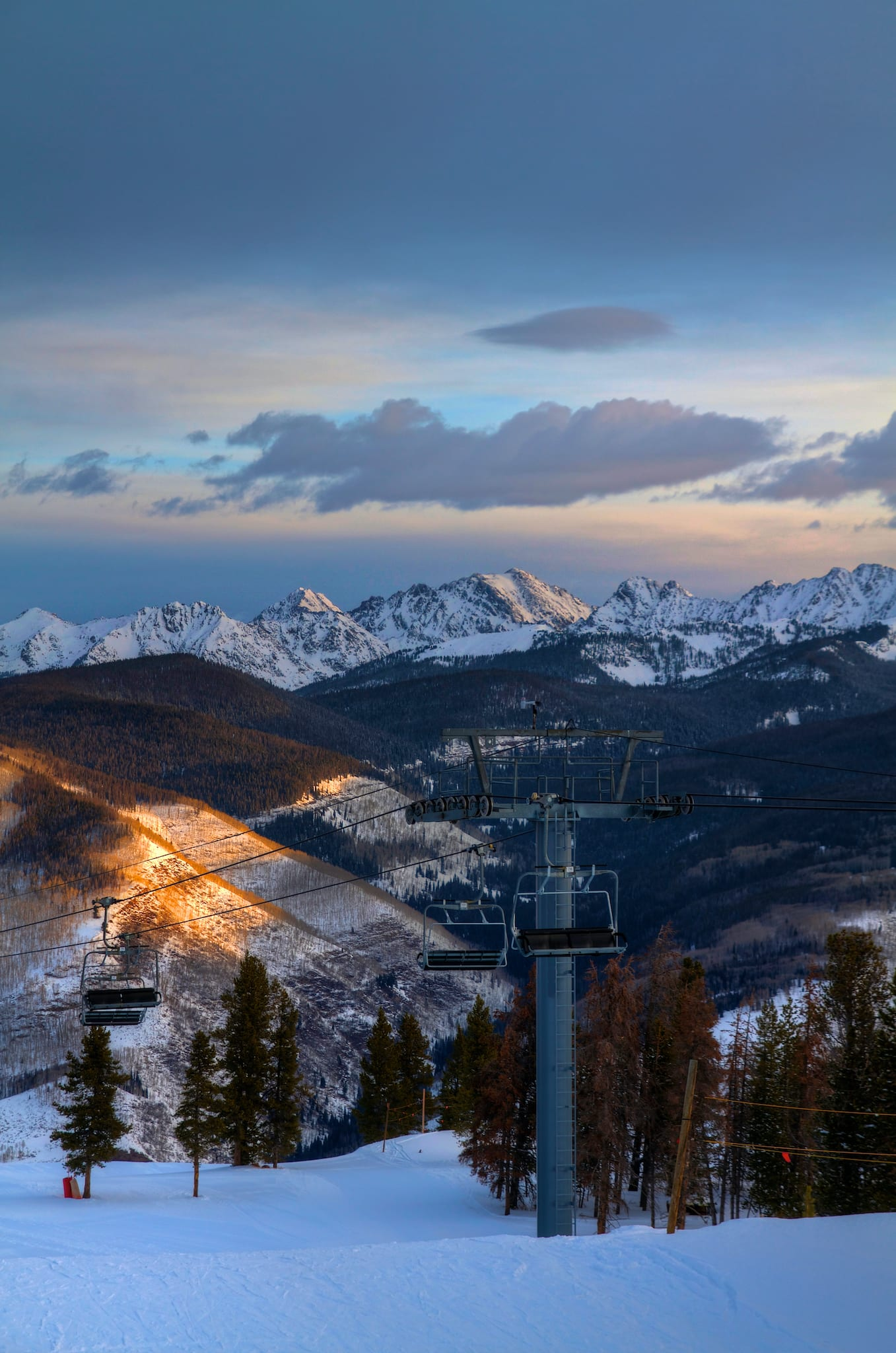 Vail Ski Resort Gore Mountain Range Sunrise