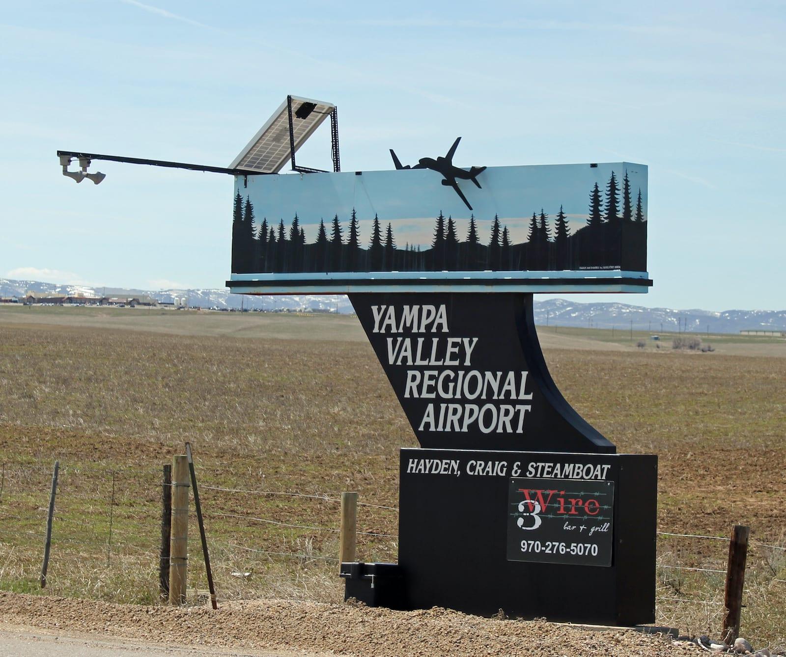 Yampa Valley Regional Airport Sign Hayden Colorado