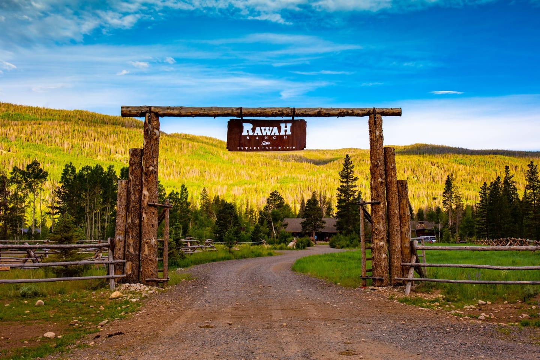 Image of the entrance at Rawah Ranch, CO