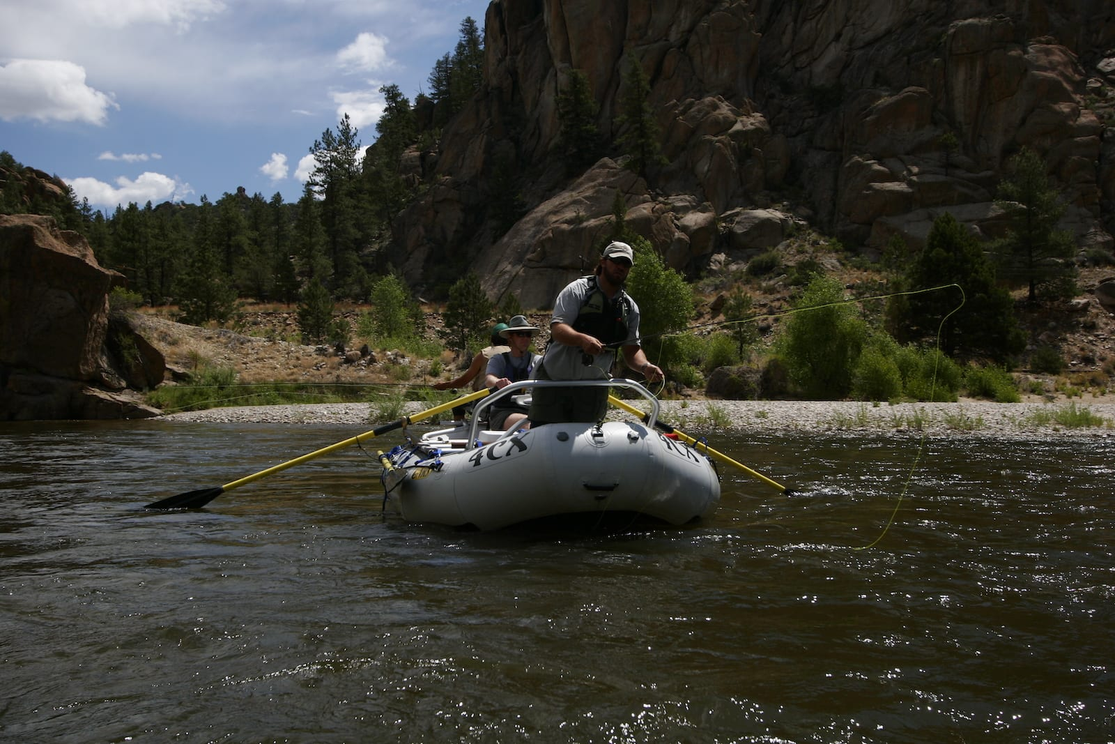 Arkansas River Fly Fishing from Raft into Gold Medal Waters