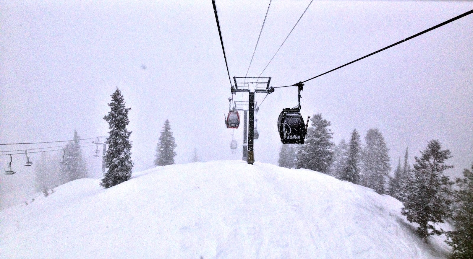 Aspen Mountain Gondola Winter Snow Day