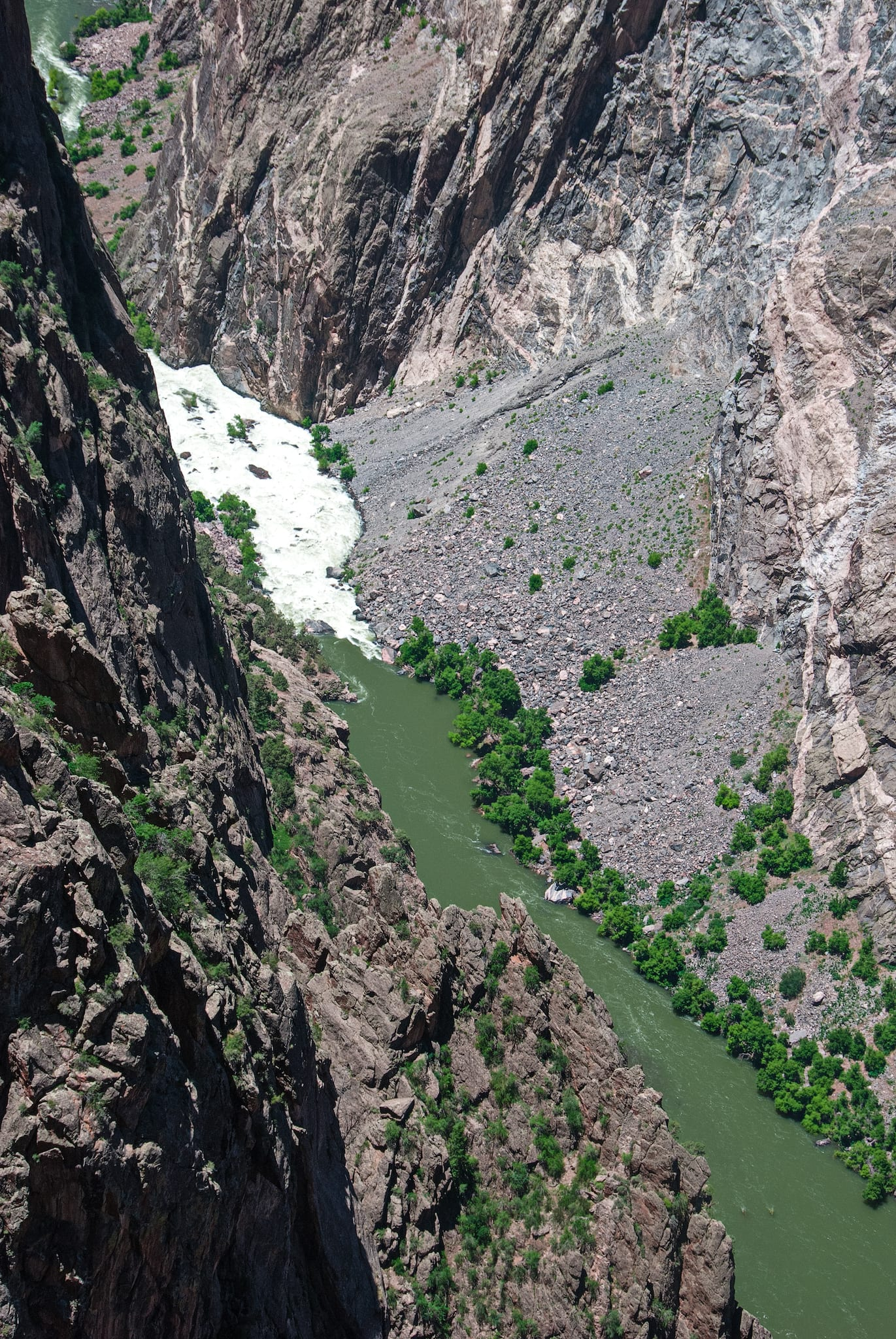 Black Canyon of the Gunnison River Aerial View