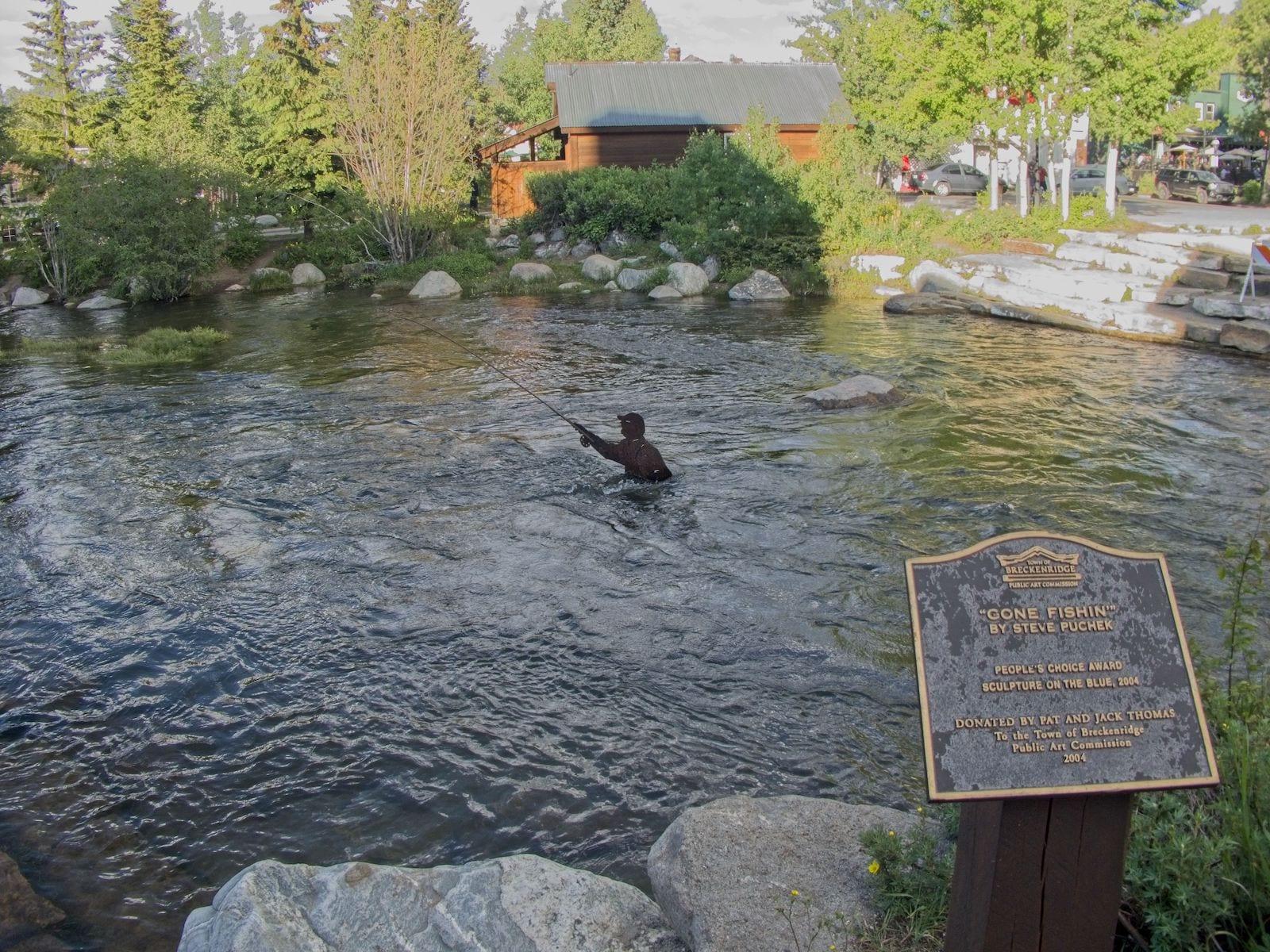 Blue River Breckenridge Gone Fishin' Sculpture