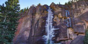 Bridal Veil Falls Telluride CO Snow