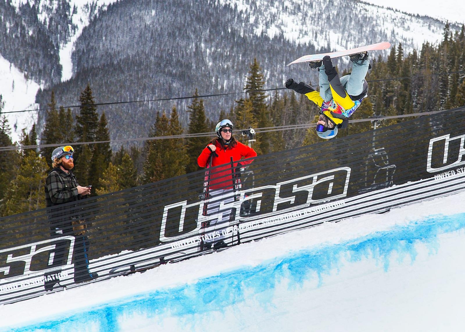 Copper Mountain Snowboarder Halfpipe