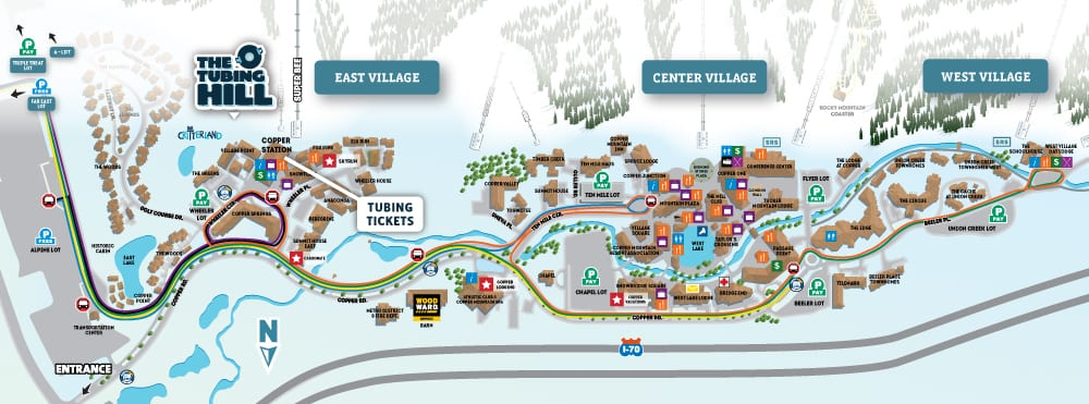 Copper Mountain Tubing Hill Map
