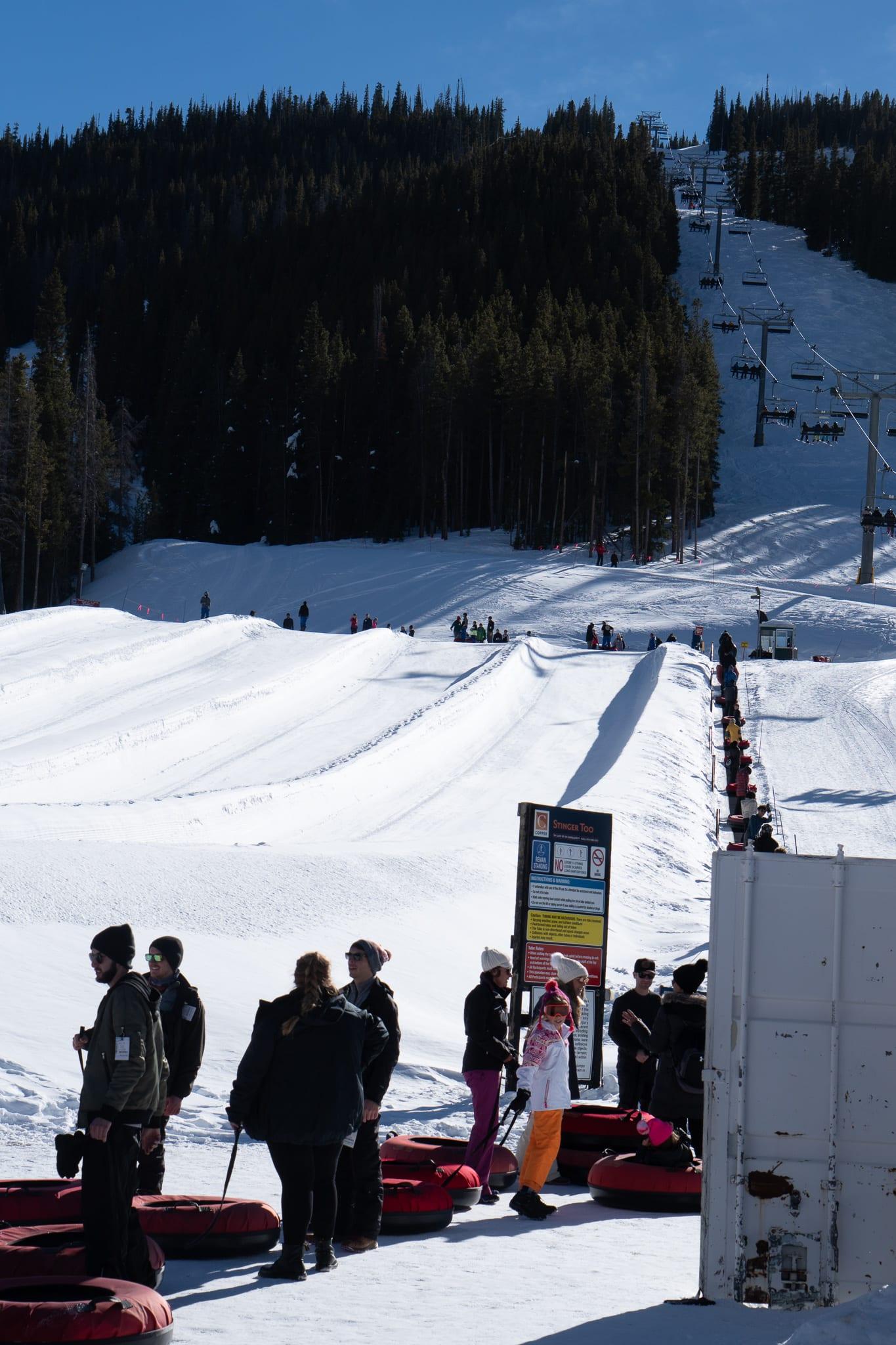 Copper Snow Tubing Hill Colorado