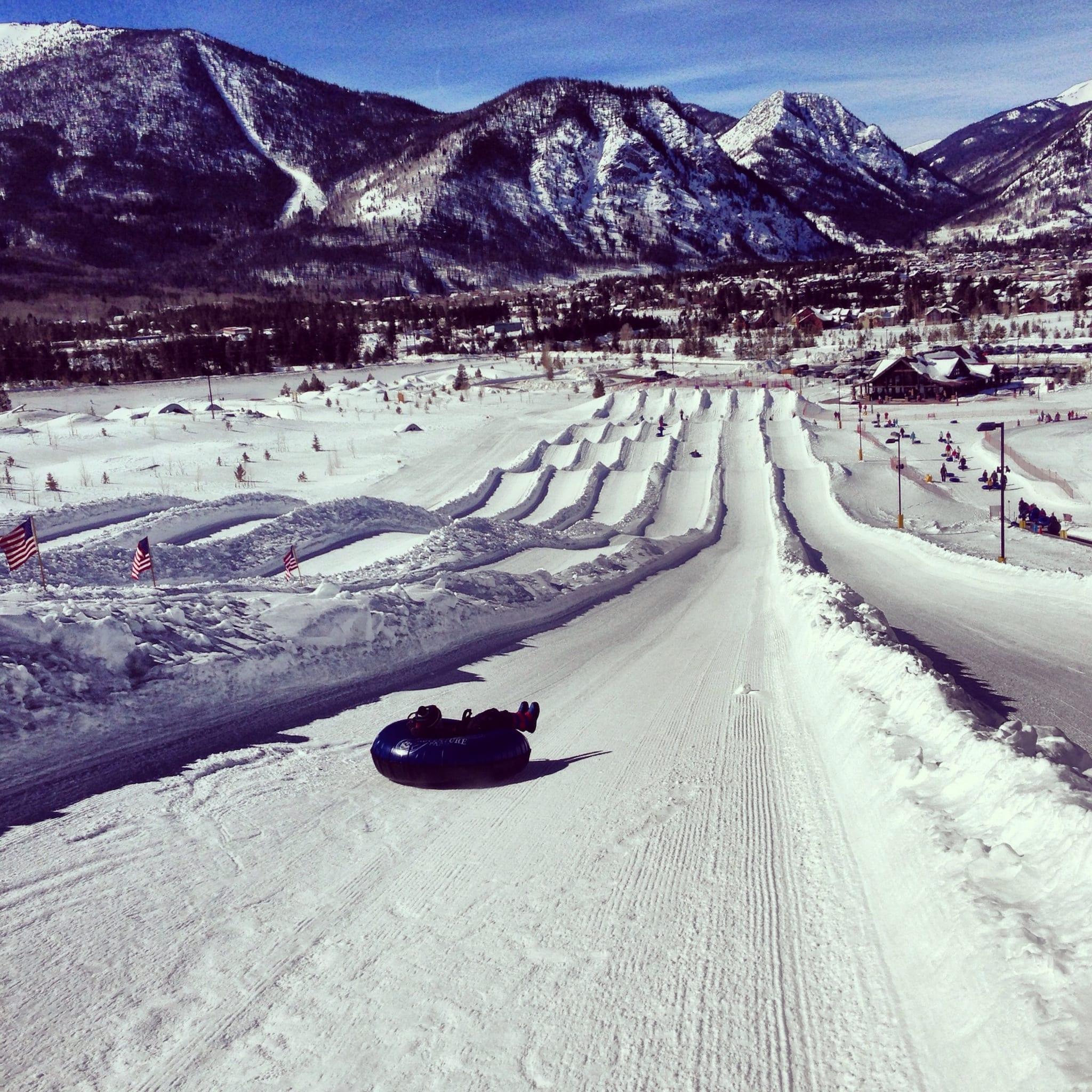 Frisco Snow Tubing Hill Colorado