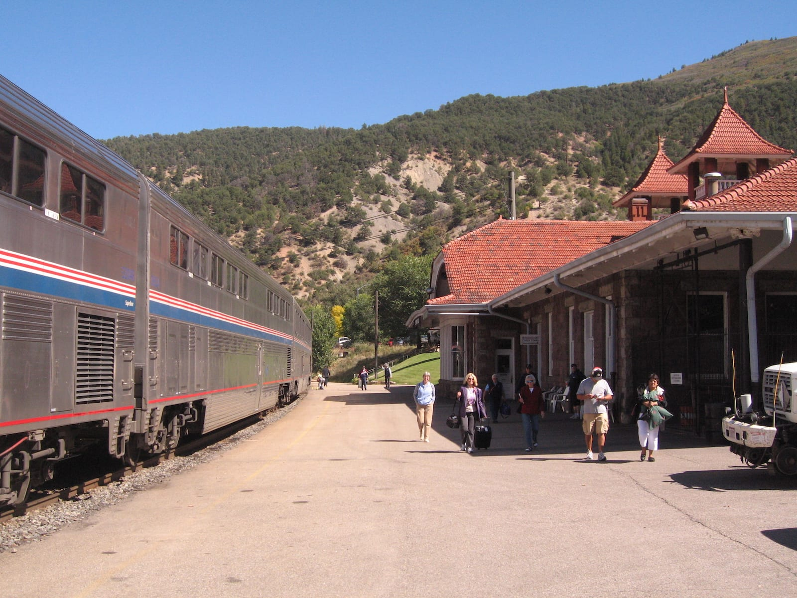Glenwood Springs CO Amtrak Station and Train