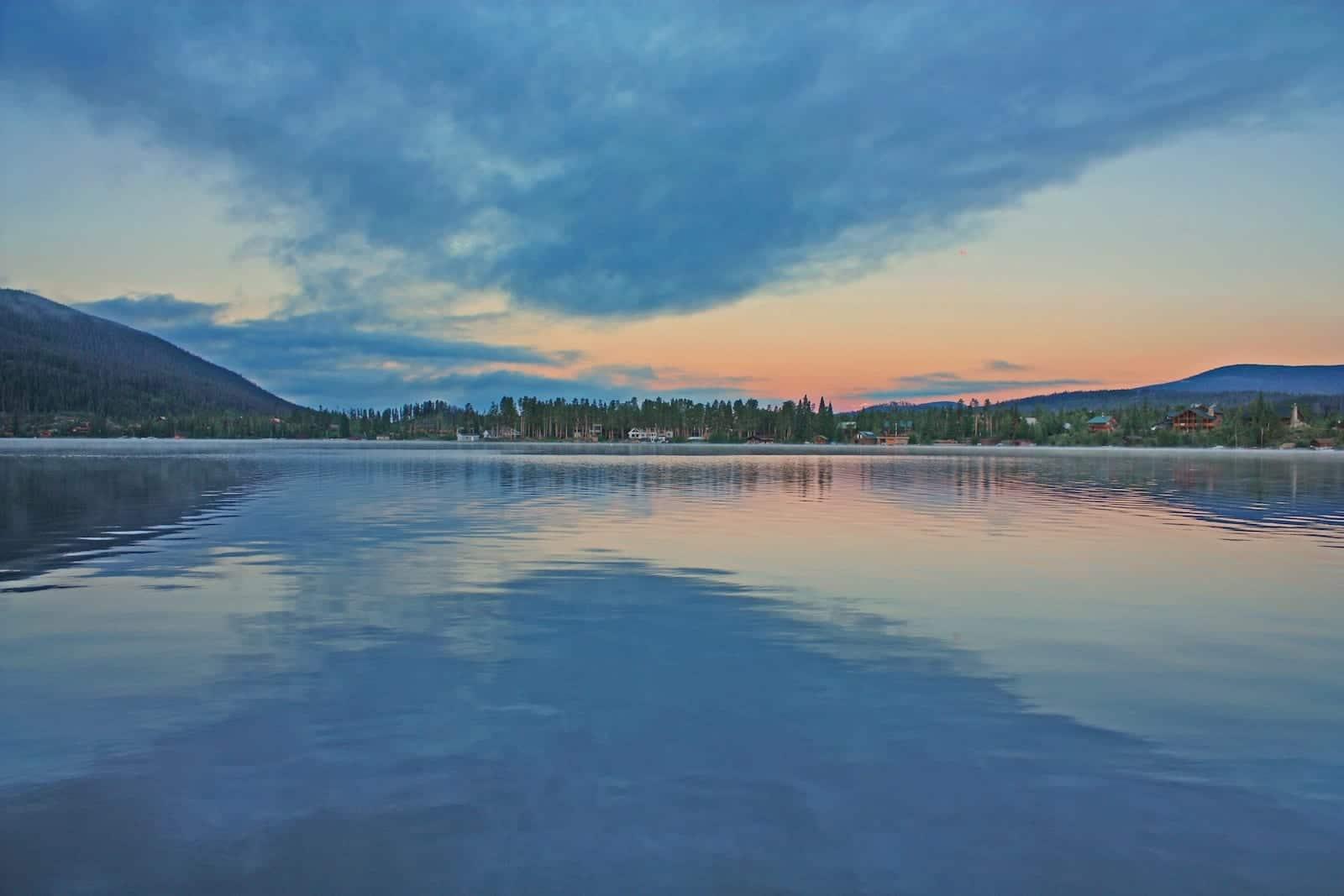 Grand Lake Colorado Dawn Sky