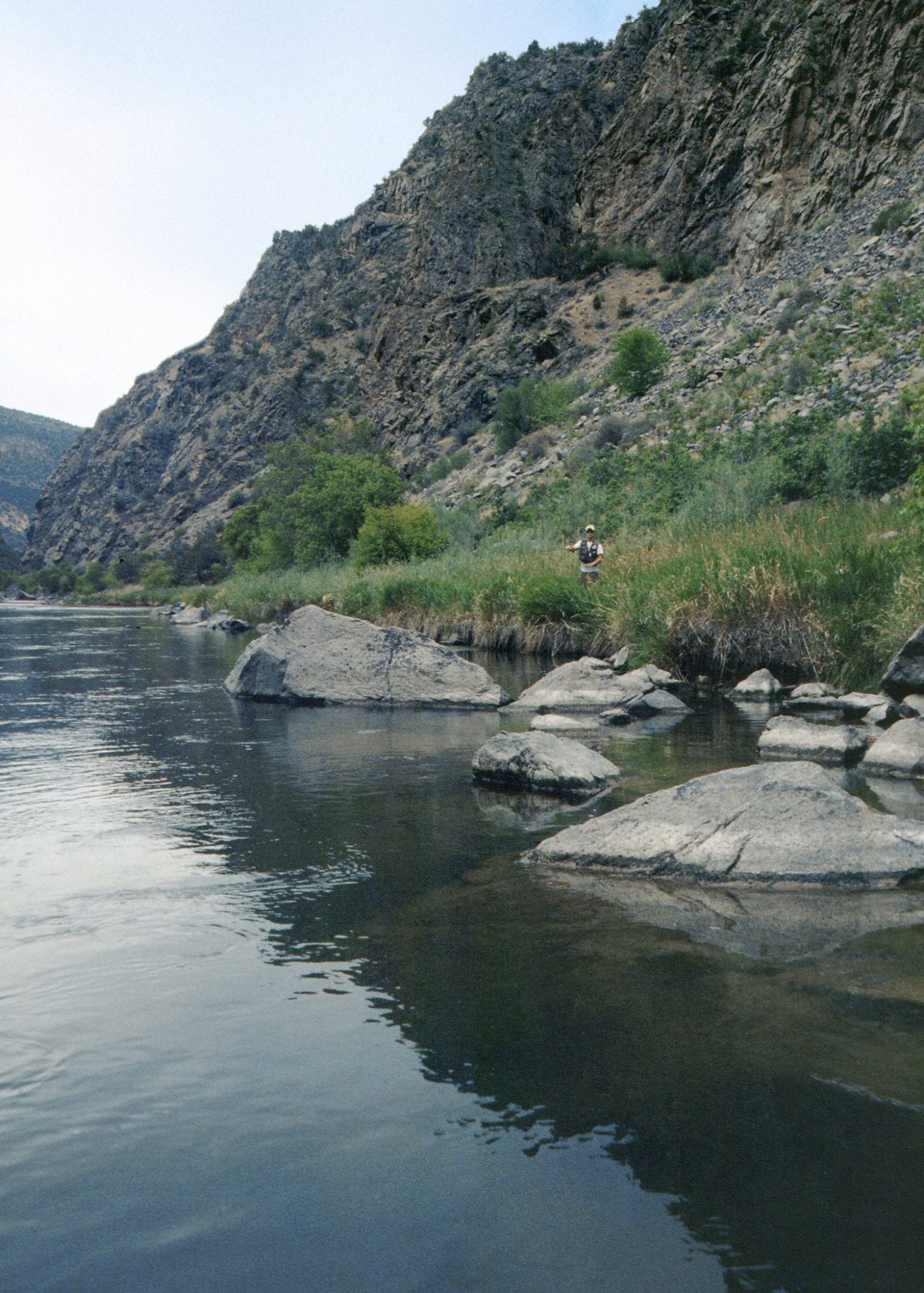 Trout Fishing Gunnison River in Gunnison Gorge NCA Colorado