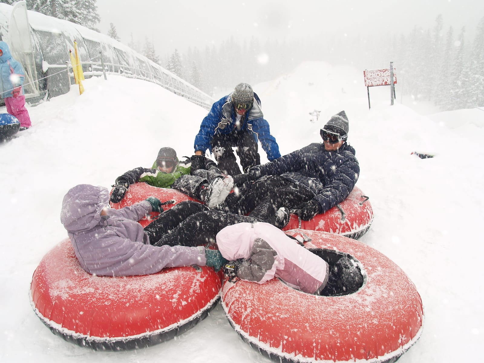 Keystone Resort Snow Tubing Hill Group