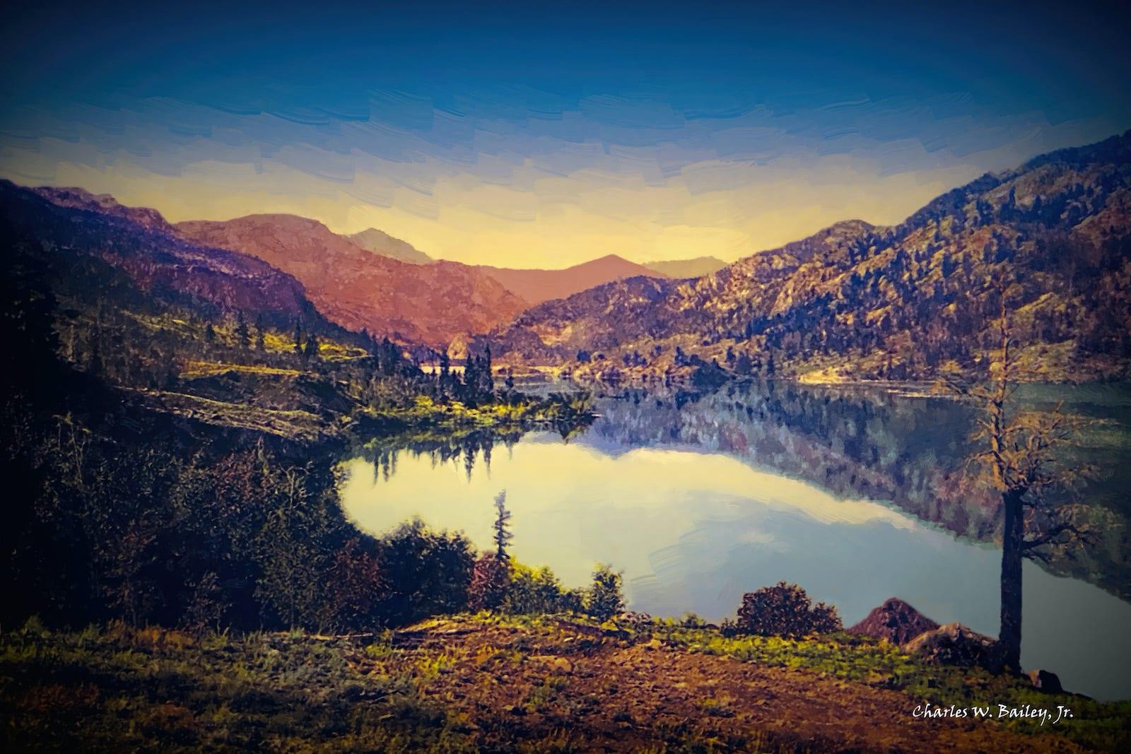 Lake San Cristobal Colorado Digital Oil Painting